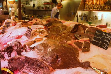 The freshest seafood at the saluhall, Stockholm, Sweden