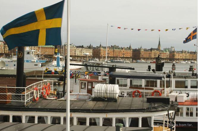 View on Strandvägen boulevard, Stockholm, Sweden