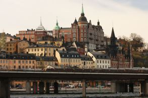Slussen and Södermalm from Gamla Stan, Stockholm, Sweden