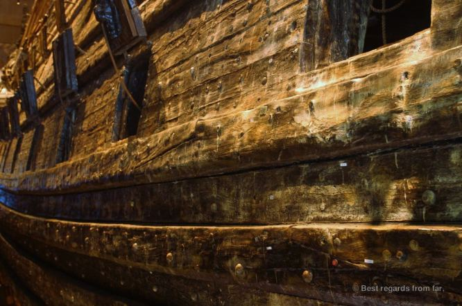 The hulll of the Vasa, , Stockholm, Sweden