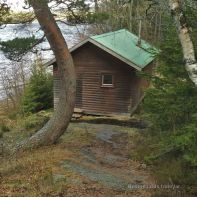 High Coast trail stugas: Island Stuga