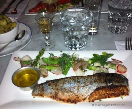 Local seasonal fish at Södra's in Gävle, Sweden
