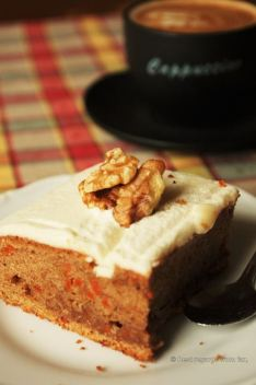 Homemade carrot cake in Uppsala, Sweden