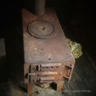 The stove that powered our stuga sauna!