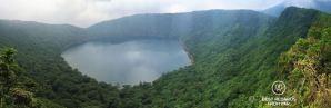 Lake Onami, a crater lake reached by Ebino Kogen, Kyushu Island, Japan.