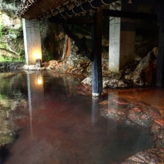 The Yamanoyado Shinmeikan onsen mixed bath, Japan. Experiencing the traditional Japanese spa.