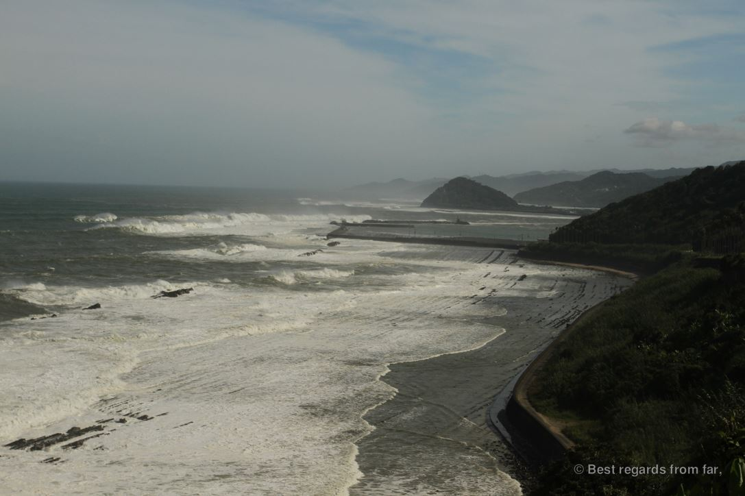 Dramatic views on the Miyazaki coastline along the Pacific Ocean, Kyushu Island, Japan.