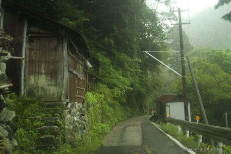Typical mountain road of Shikoku
