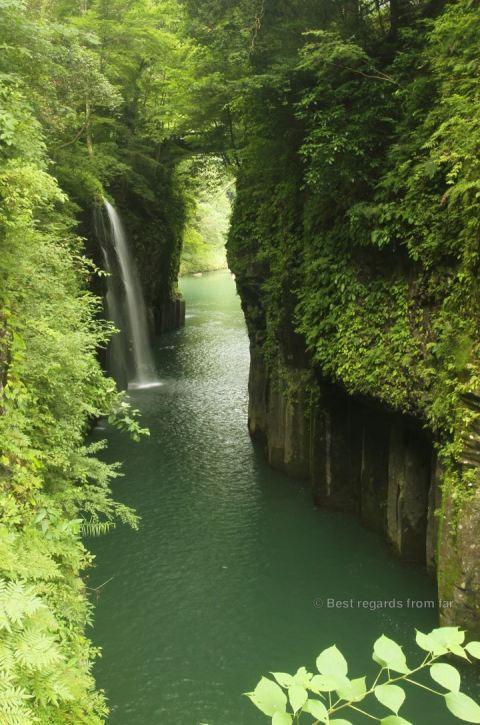 Spectacular waterfall of Takachiho, Japan.