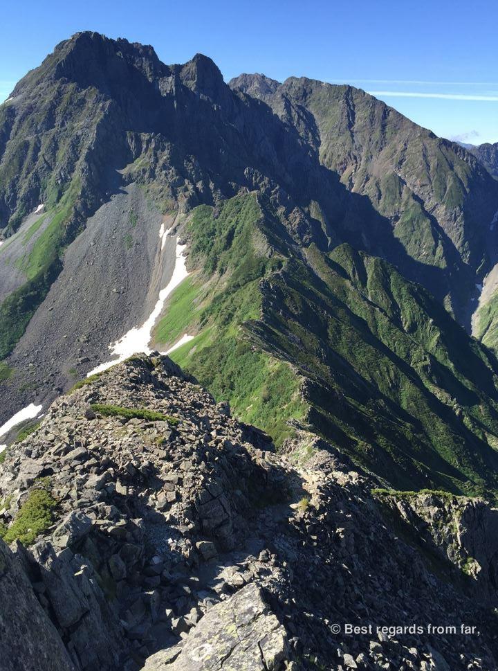 The Daikiretto ridgeline hike in the Japanese Alps.