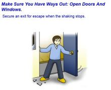Life safety learning center in Tokyo: what to do after an earthquake. Step 4: find ways out.