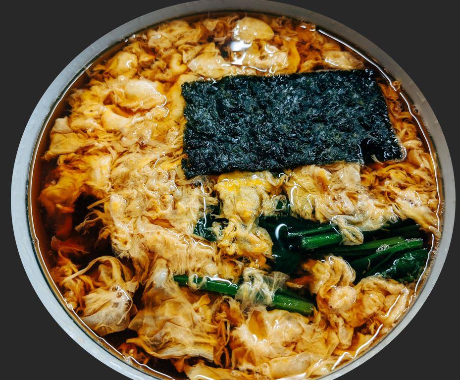 Bowl of homemade ramen noodles, Japan