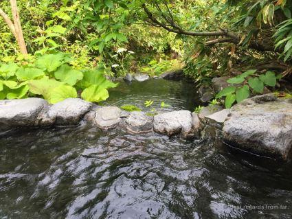 The rotenburos by the ryokan, Hokkaido.