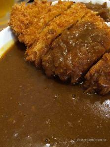 Curry tonkatsu in Biei, Hokkaido, Japan.