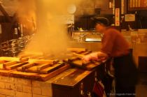 Hells kitchen in Beppu: the steamed dish is ready!