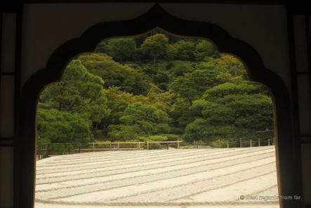 The Zen garden of Ginkaku-Ji