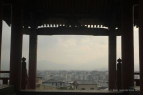 Kiyomizu-dera, the pure water temple provides an interesting view on the city