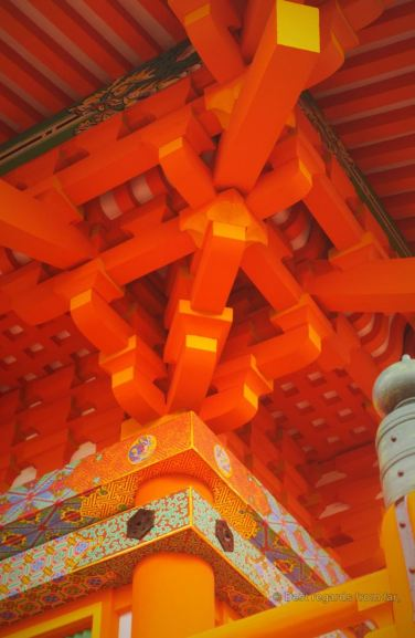 Details of the colourful Kiyomizu-dera temple