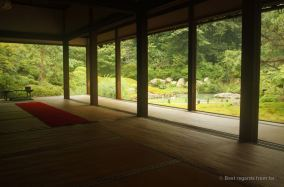 Shoren-in offers a great spot to take it in