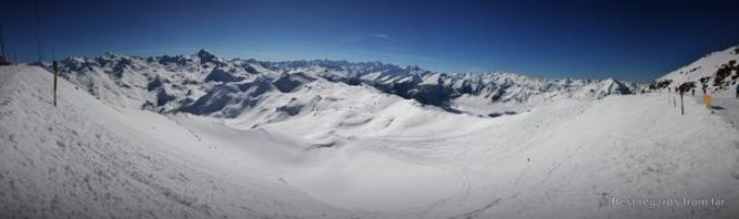 Panorama from Pointe de la Masse, Les Ménuires, France