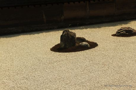 Ryoan-ji, the famous Zen garden leaves some room for meditation