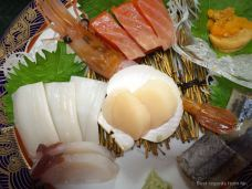 Delicious sashimis of Hokkaido, Japan.