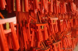 Small offerings as the tall ones might be a bit expensive at Fushimi Inari Taisha