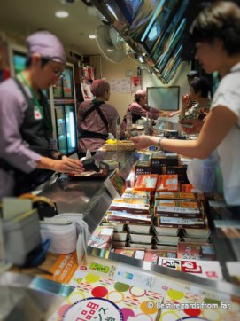 Japanese people queueing for the best bento at Matsuri in the huge Tokyo station, Japan.