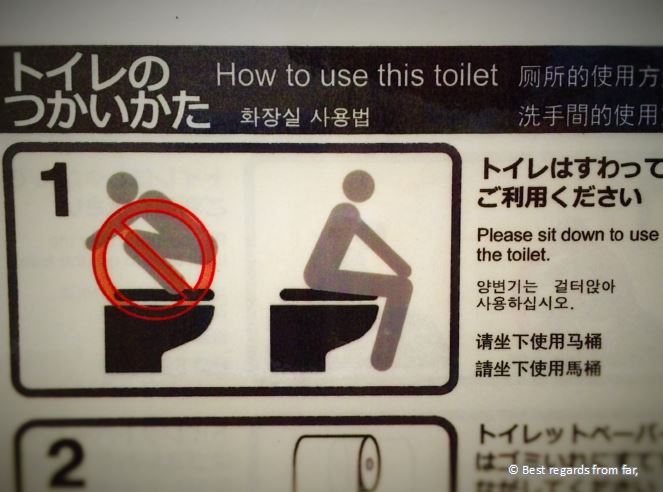 When instructions on Japanese toilets can be puzzling, some would just crack me up!