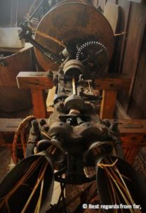 A rope-making machine, Magome to Tsumago hike