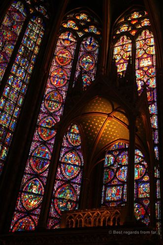 The holy place where the Christ's Relics were housed by Louis IX