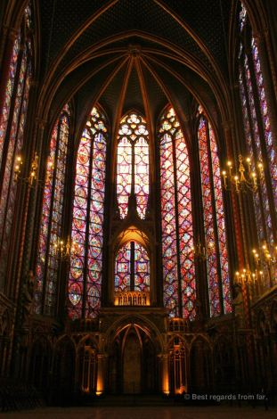 The holy chapel's precious stained glass windows