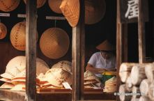 Hand crafted hats, Tsumago