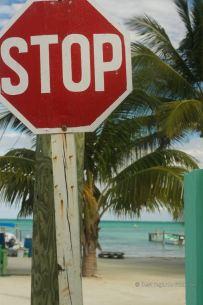 Handmade street signs, Caye Caulker, Belize
