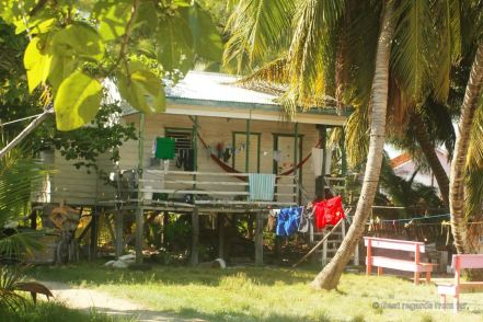 A typical Belizean house, Caye Caulker, Belize
