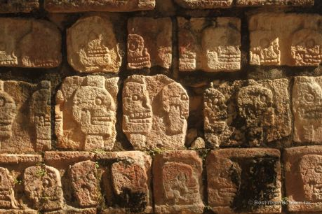 Details of the Skull Wall in Chichén Itza