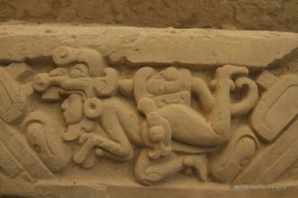 Frieze relating the Maya mythology, El Mirador, Guatemala