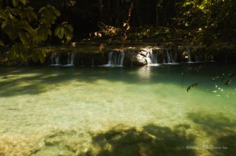 One of the stepped turquoise pools