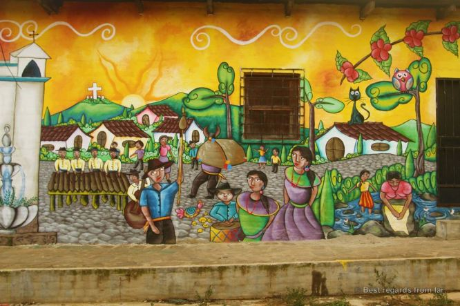 Colourful murals of Ataco, Ruta de las Flores, El Salvador
