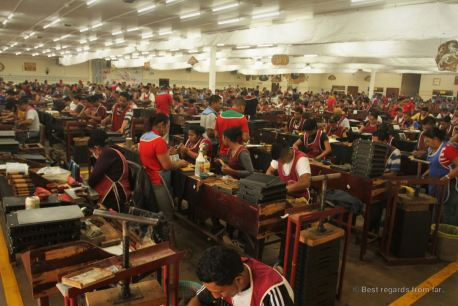 The production floor at Drew Estate, Esteli, Nicaragua