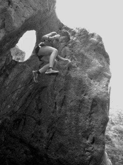 Jumping from the steep cliffs, the Somoto Canyon, Nicaragua