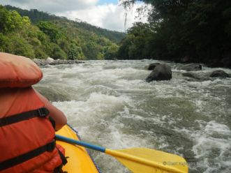 White water rafting the Chiriqui Viejo river, Panama