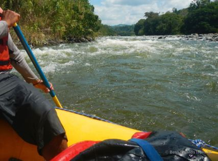 White water rafting the Chiriqui Viejo river, Panama