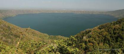 The crater lake of Laguna de Apoyo from Catarina, Nicaragua