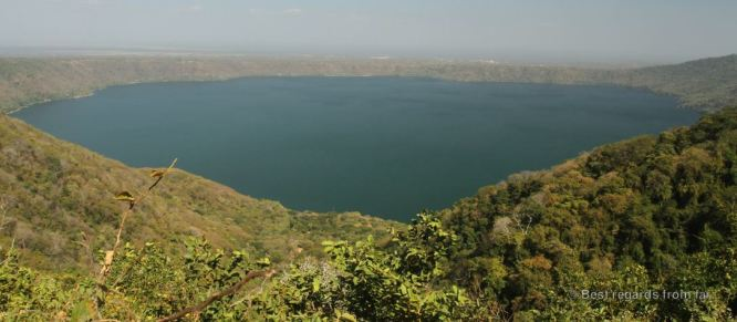 The crater lake of Laguna de Apoyo from Catarina, Nicaragua