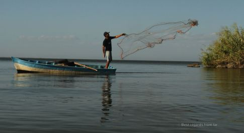 A community of fishermen inhabits the islets of Granada, Nicaragua