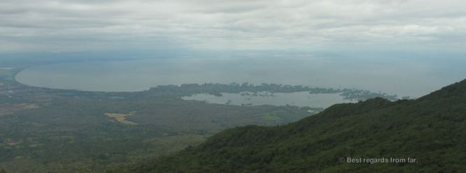The islets of Granada, Nicaragua, seen from Mombacho volcano