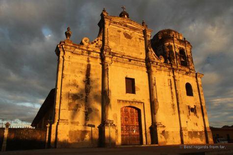Sunset on San Juan Bautista, Leon, Nicaragua