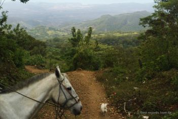 Discovering the three different zones on horseback, Miraflor, Nicaragua