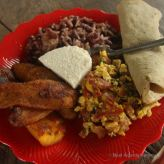 Delicious homegrown and homemade breakfast, Miraflor, Nicaragua